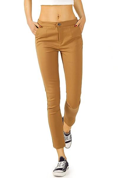 3b4bf2f113 Bestyledberlin - Pantalón - Chino - Básico - para Mujer Amarillo (Mostaza)  W42  Amazon.es  Ropa y accesorios
