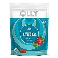 OLLY Goodbye Stress Gummy, 30 Day Supply (60 Gummies), Berry Verbena, GABA, L Theanine...
