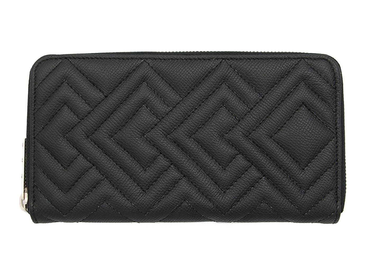 TSUNAIHAIYA ツナイハイヤ FRZWD 財布 / Fenomeno Round Zip Wallet Diamond / ラウンドジップウォレット L B07CK3277K 外装ブラック×内装ブラック