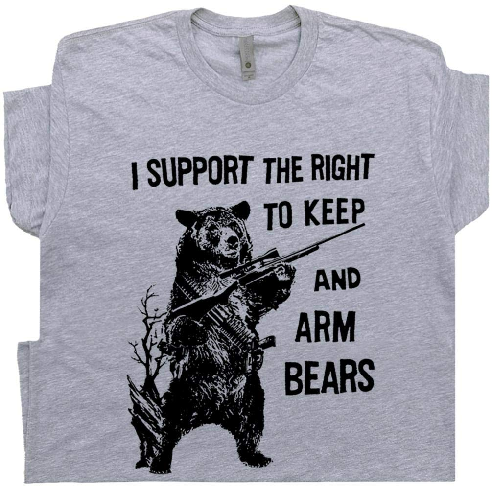 Bear Arms T Shirt 2nd Adt Funny Hunting Shirts Saying Redneck 80s Gift For Hunter Fisherma