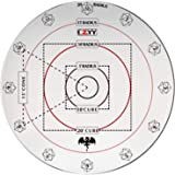 "CZYY Spell AOE Damage Marker for 1"" Grid or Hex Tabletop Game Mat Acrylic D&D Area Effect Template - RPG Gaming…"