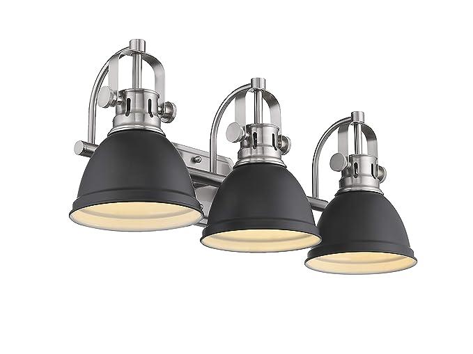 Pleasant Emliviar 3 Light Bathroom Vanity Light Fixture Black Finish With Metal Shade 4054H A Download Free Architecture Designs Scobabritishbridgeorg