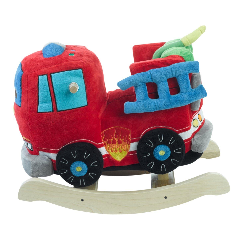 Rockabye Kids Firefighter Play /& Rock Ride-On Rocker Multi
