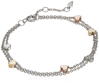 Amazon.com: Fossil para mujer diseño de Vintage doble cadena ...