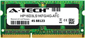 A-Tech 4GB Replacement for Kingston HP16D3LS1KFG/4G - DDR3/DDR3L 1600MHz PC3-12800 Non ECC SO-DIMM 1rx8 1.35v - Single Laptop & Notebook Memory Ram Stick (HP16D3LS1KFG/4G-ATC)