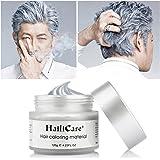 Cire Cheveux Gris, HailiCare 120g Crème Colorante Cheveux Temporaire pour DIY Couleur et Coiffure de Cheveux Naturel et Hydratant