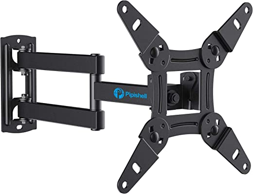 Full Motion TV Monitor Wall Mount Bracket Articulating Arms Swivels Tilts Extension Rotation for Most 13-42 Inch LED LCD Flat Curved Screen TVs &…