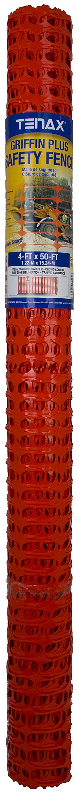 Tenax x 1A170062 Griffin Plus 4'X50' Safety Fence, Small, Orange by Tenax