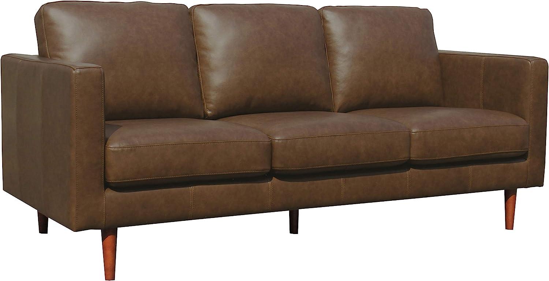 - Amazon.com: Amazon Brand – Rivet Revolve Modern Leather Sofa Couch