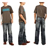 Rock and Roll Cowboy Boys BB Gun Jeans with Ivory V