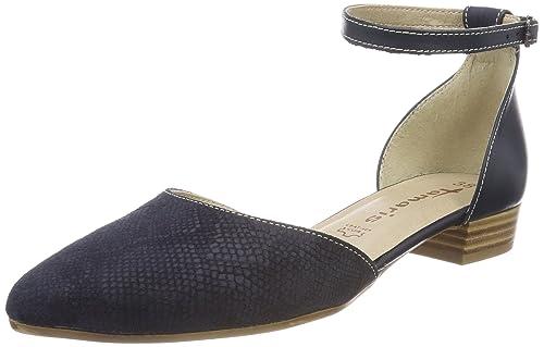 Tamaris 24227 Sandali con Cinturino alla Caviglia Donna Blu