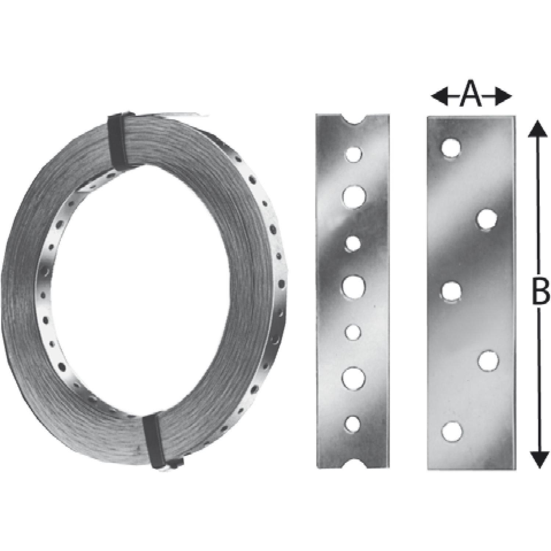 in Abrollkassette GAH-Alberts 334246 Lochband L/änge: 3 m Breite: 20 mm sendzimirverzinkt