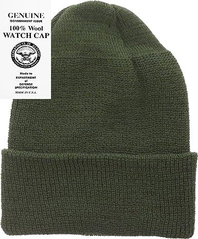 248dcce9910 Military Genuine GI Winter USN Warm Wool Hat Watch Cap USA Made