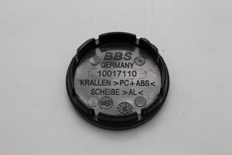 BBS Original Emblem Nabendeckel Rot Silber Nabenkappe Felgendeckel 56mm 4K