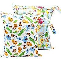 2 bolsas de almacenamiento para pañales, cierre impermeable