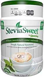 Steviva SteviaSweet - Pure Stevia Extract Fine Powder NonGMO Low Carb