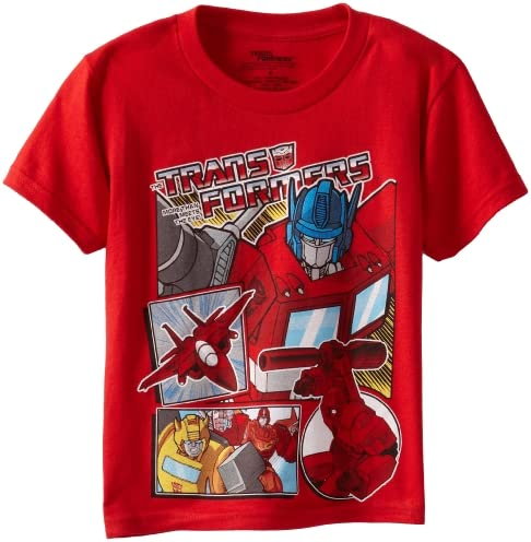 Transformers Little Boys Short Sleeve T Shirt Shirt Red 4 Amazon Com Au Fashion