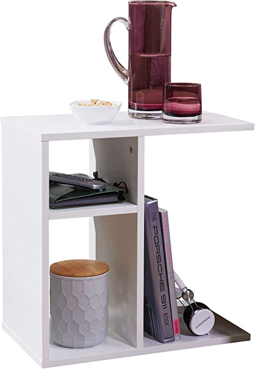 BuyDream - Mesa Auxiliar de diseño pequeño, Estrecha, Moderna ...