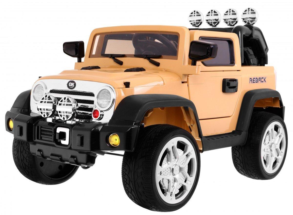 Beige 2.4 GHz Elektro Kinderauto Elektrisch Ride On Kinderfahrzeug Elektroauto Fernbedienung - ReBack 2.4 GHz - Beige