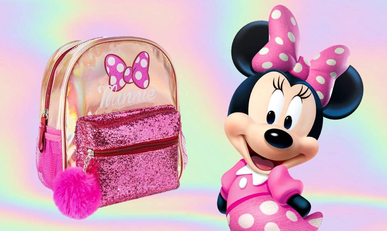 Valise de Vacances Sac /à Dos Trolley Le Cadeau Parfait | Disney Sac D/école Bagage /à Main Cabine Minnie Mouse et Licorne Sac 3D pour Enfants