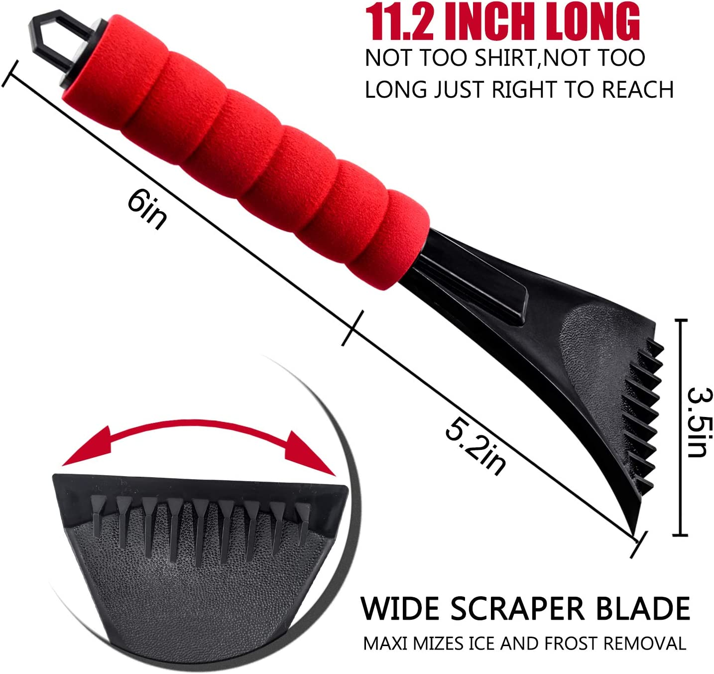Mudder 3 Pieces Ice Scraper Car Snow Scraper Frost and Snow Removal Tool for Car and Small Trucks Windshield and Window