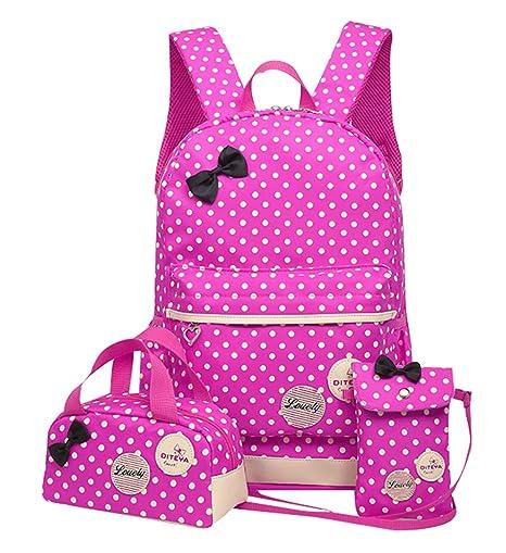 f671b309ccc1 JiaYou Girl Boy Cute Lunch Bag Purse/Pencil Bag School Backpack 3  Sets(13.5L, StyleA Purple)