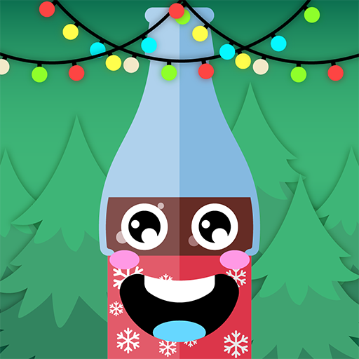 Flip Christmas Soda Bottle: Flipping Xmas Water Soda Bottle Challenge Arcade Game
