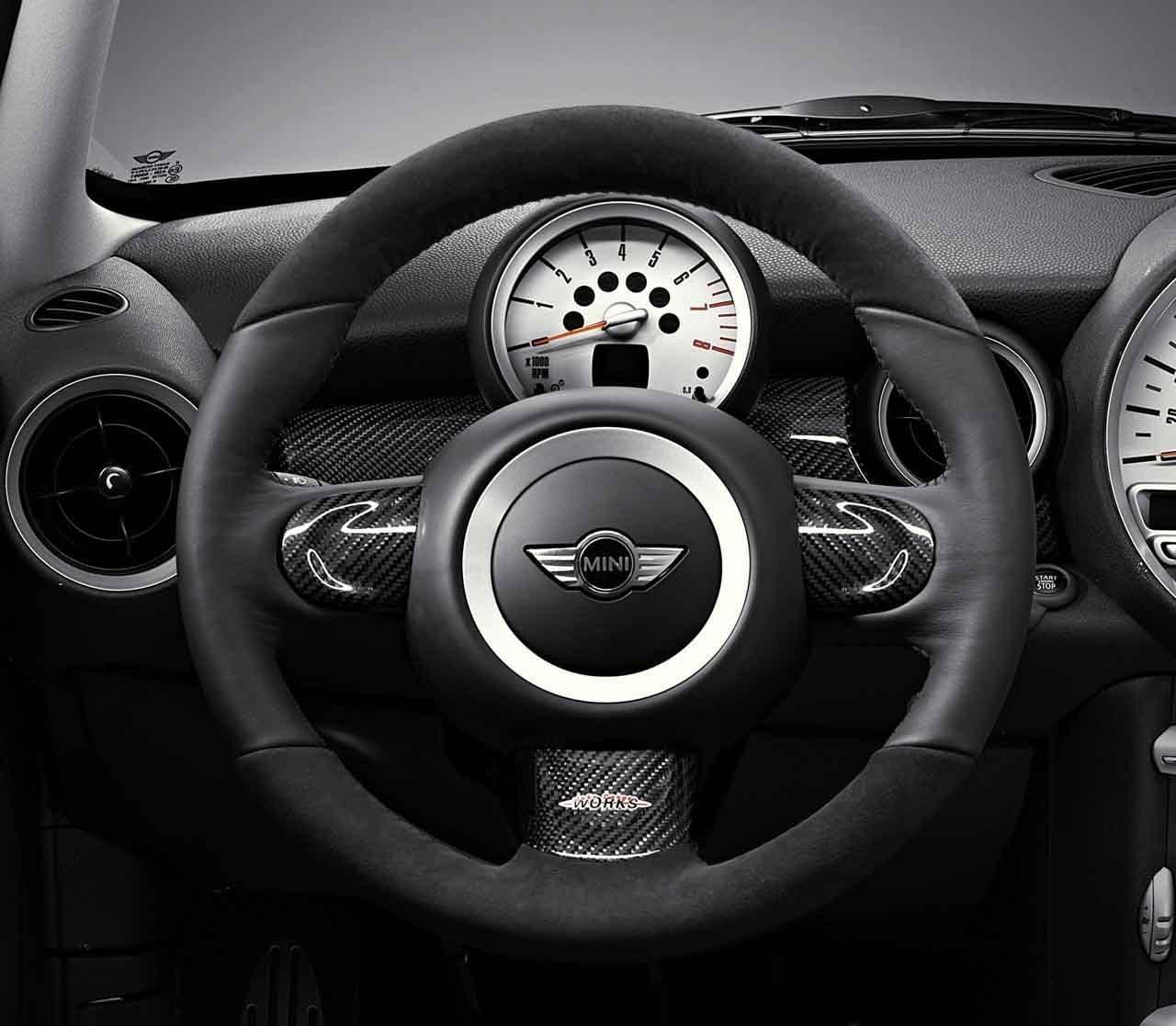 Mini authentique JCW Sport volant Coupez Carbone droite O//S Driver 32300421083