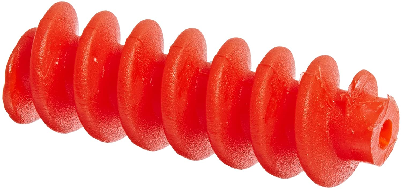 Ajax Scientific Plastic Gear Worm, 0.82cm Diameter x 2.46cm Length, Small, Red (Pack of 10) ME213-0000S