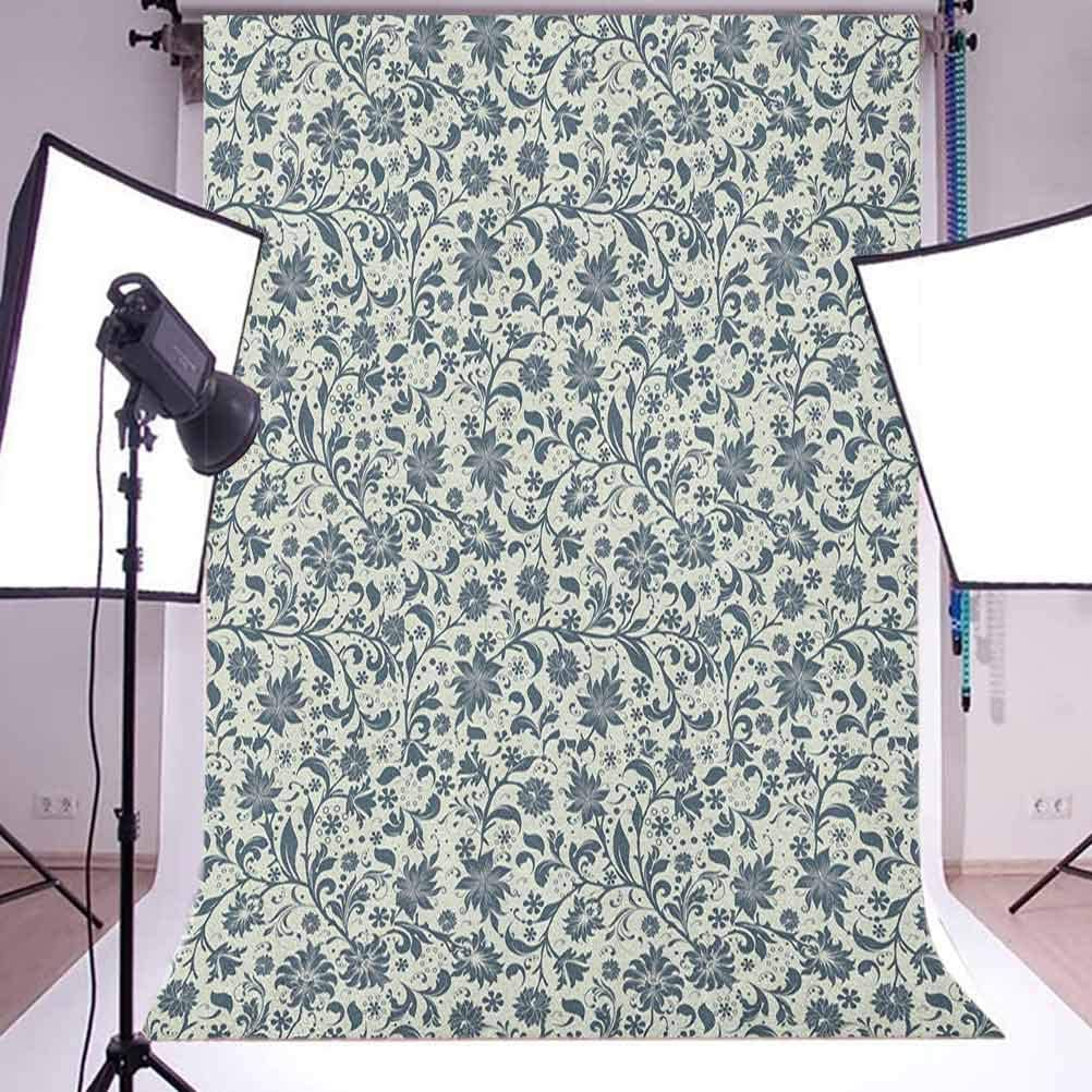 7x10 FT Christmas Vinyl Photography Backdrop,Romantic Vibrant Roses and Buds Holly Berries Pine Cones and Leaves Print Background for Baby Birthday Party Wedding Graduation Home Decoration