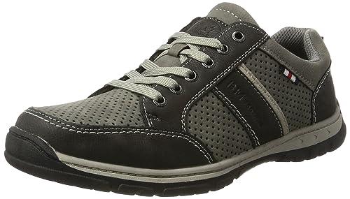 BM Footwear 2710602, Low-Top Uomo, Grigio (Grigio (Grey)), 45 EU