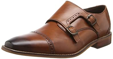 Florsheim Mens Castellano Monk Saddle Tan Slip-On - 7 D