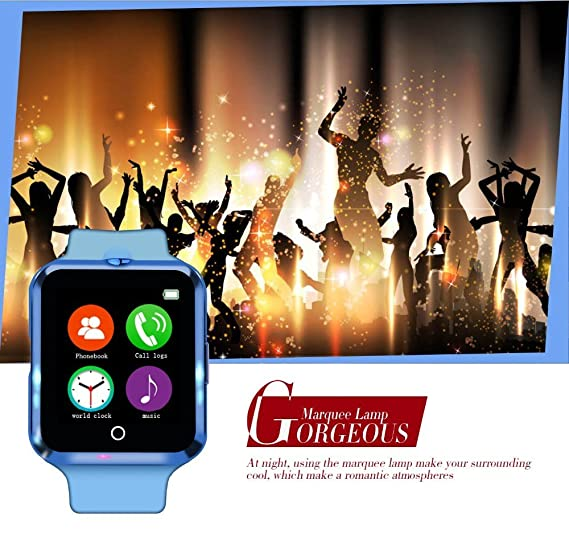 YinoSino Teléfono inteligente C88 / Reloj Bluetooth / Reloj Android / Reloj para la salud con monitor de pulso cardíaco, pantalla táctil y cámara, ...