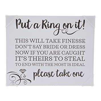 71e75e3d16b6 Amazon.com  Put a Ring on It Bridal Shower Game Sign  Health ...