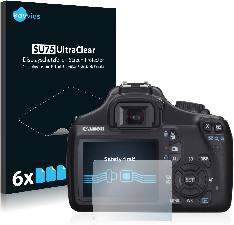 savvies Protector Pantalla Compatible con Canon EOS 1100D (6 ...