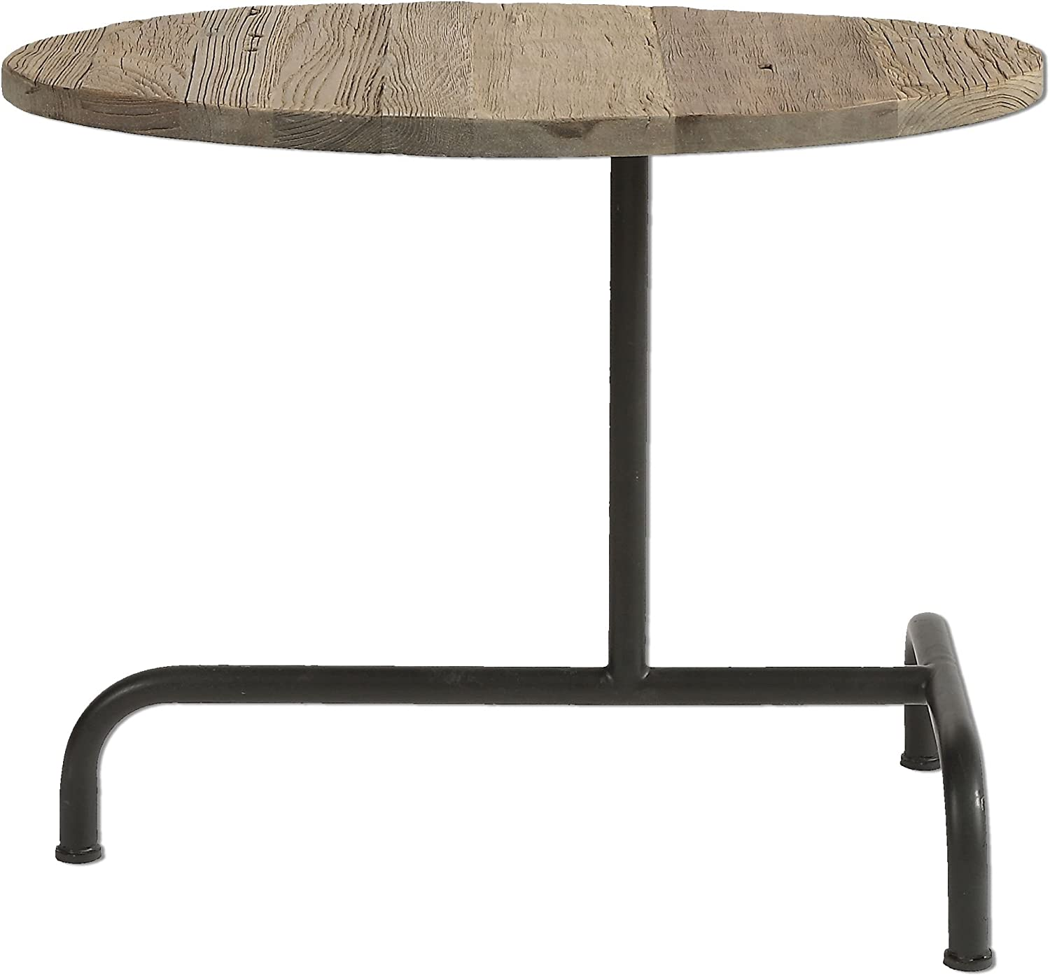 Reclaimed Wood & Iron Industrial Accent Side Table 71zQ2BXZXDoLSL1500_