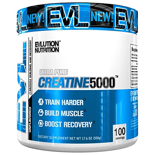Evlution Nutrition Creatine5000 5 Grams of Pure Creatine Monohydrate in Each Serving Unflavored Powder (100 Servings)