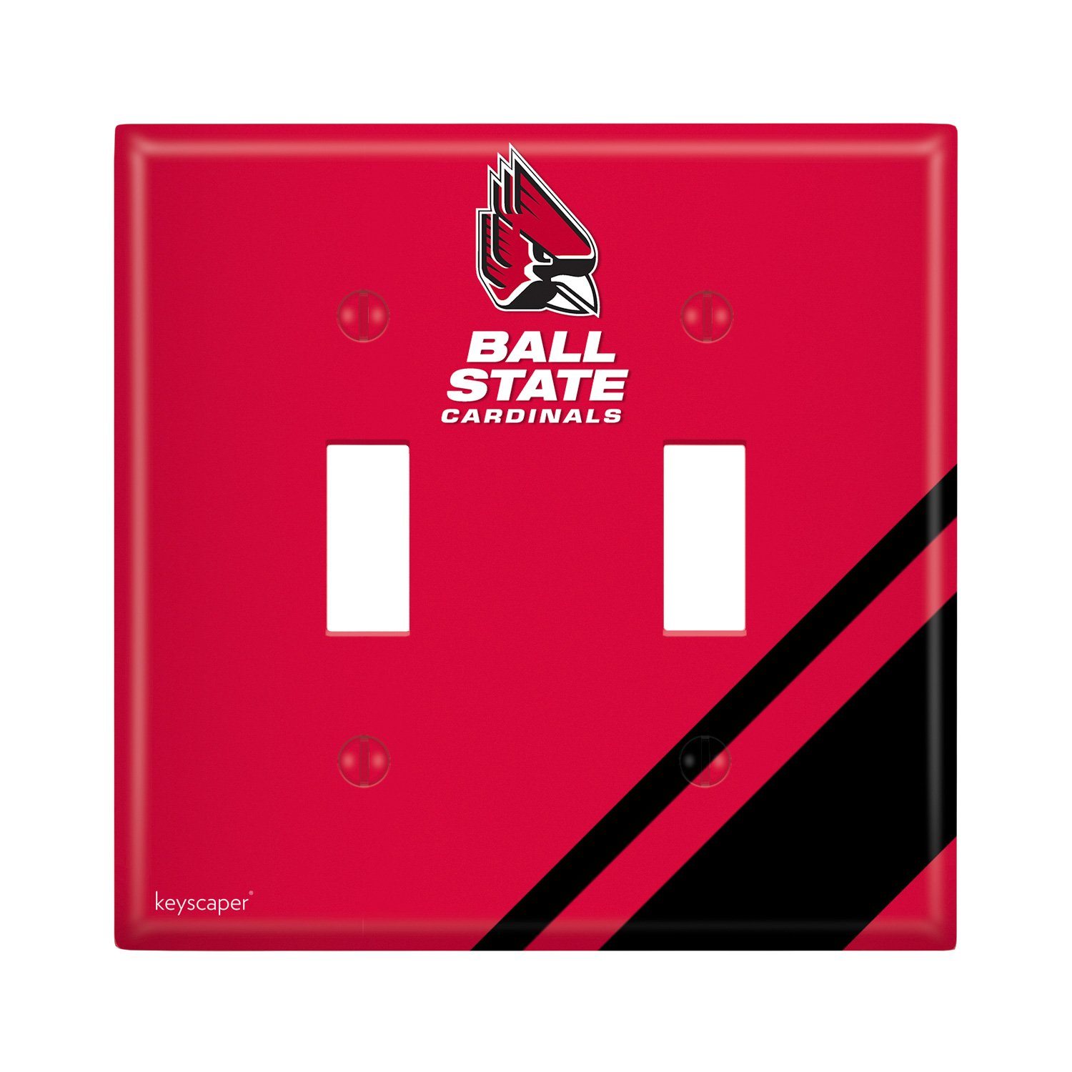 Ball State Double Toggle Light Switch Cover NCAA