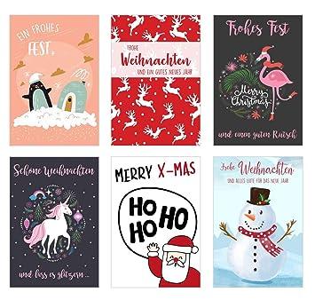 Weihnachtskarten Exklusiv.Set 6 Exklusive Premium Weihnachtskarten Mit Umschlag Doppelkarten