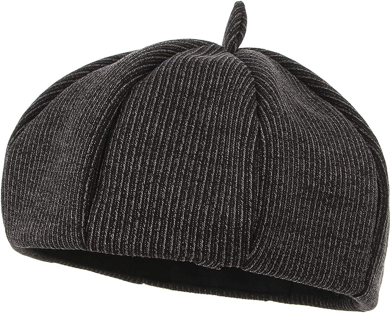 GEMVIE Women Felt French Fiddler Artist Cap Vintage Adjustable Cotton Beret Hat for Fall Winter