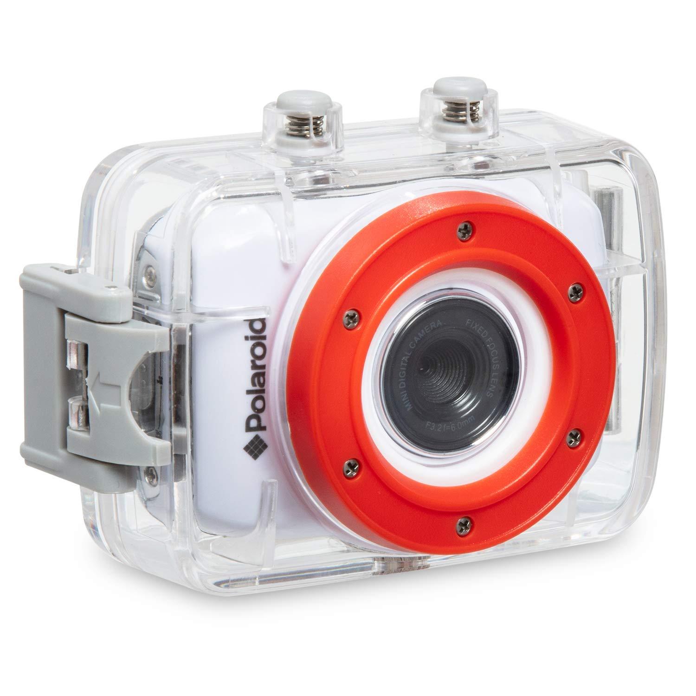 Polaroid XS7 HD 720p 5MP Wasserdichte Action Kamera mit LCD-Touchscreen, inklusive Befestigungsset XS7HD