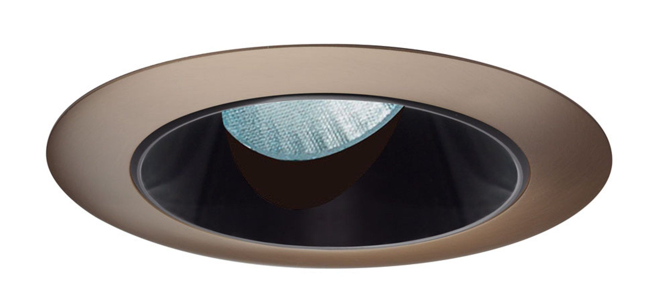 Juno Lighting Group 436NB-ABZ Aculux 4IN Adjustable Angle-Cut Cone Recessed Trim, Black Alzak Reflector with an Aged Bronze Trim Ring by Juno Lighting Group