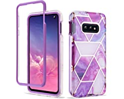 Troniker Stylish Bumper Case Designed for Samsung Galaxy S10e Case Without Built-in Screen Protector Full-Body Bling Protecti