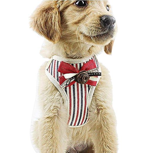 Arnés de Seguridad para Perros y Gatos, con Lazo, de Malla Suave ...