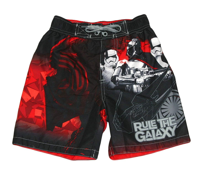 Disney Star Wars Boys Swim Trunks Swimwear (4/5, Galaxy Black)