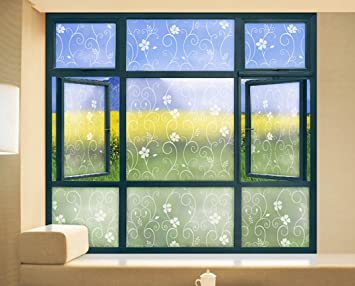 Jeephuer Creative Sichtschutz Blume Muster Fenster Aufkleber