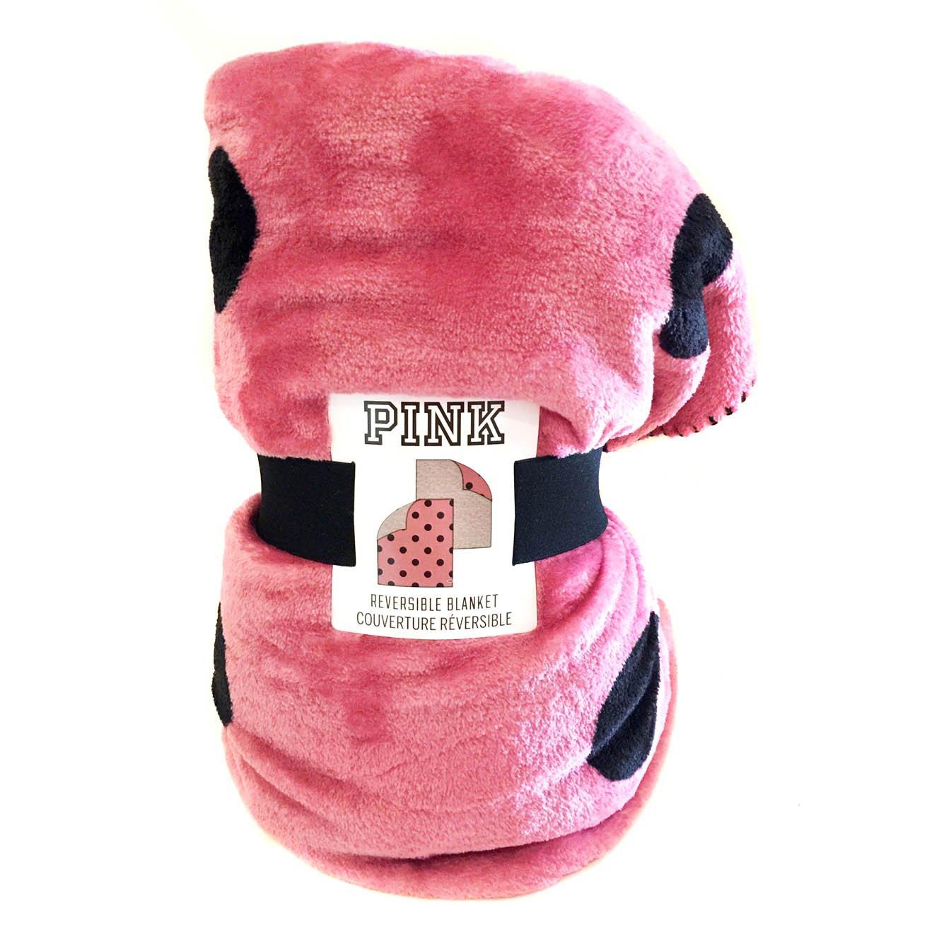 (Soft Begonia) - Victoria's Secret PINK Cosy Reversible Blanket (Soft Begonia) B01N2VE247 Soft Begonia