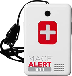 """Mace Brand Alert 911 One Touch Direct Connection Emergency Device, Calls 911 with 2-Way Voice, 2.5"""" x 2"""" x .75"""" (80239)"""