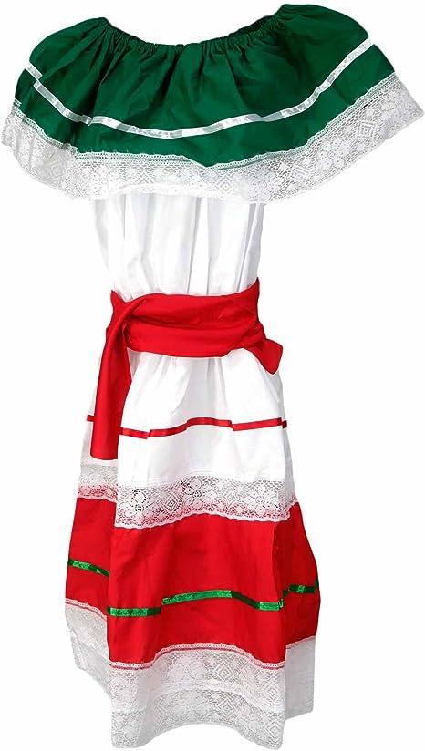 Traditional Cinco de Mayo Dress Costume, White