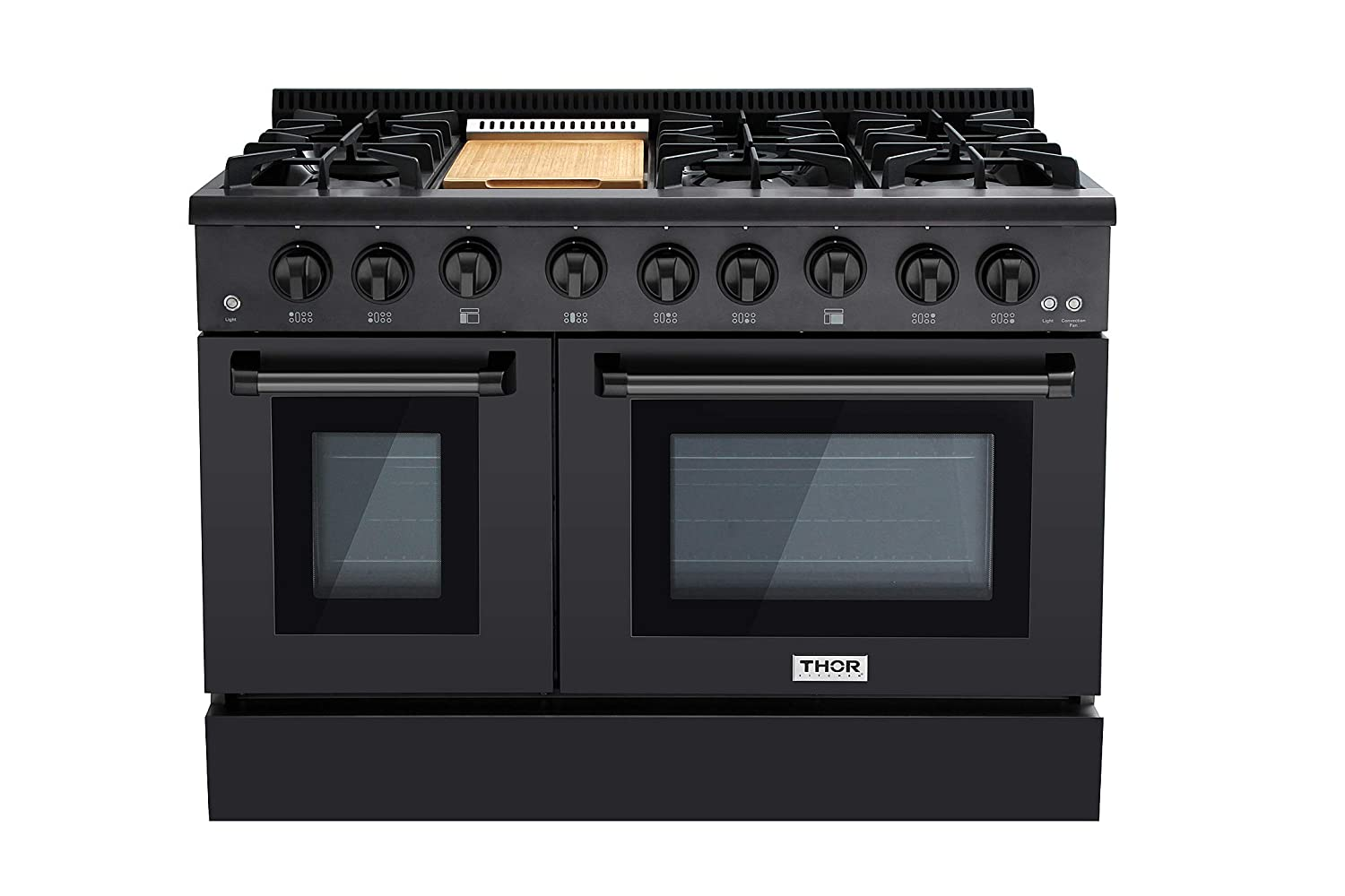 Thor 48 Gas Range Professional Kitchen Style Natural Gas, Propane Optional Black Stainless Steel Thor kitchen
